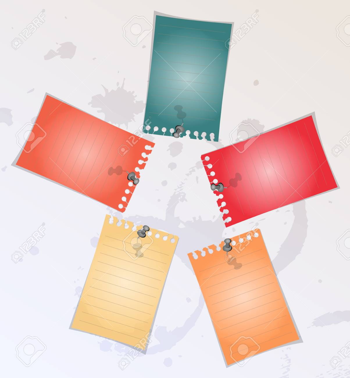Spiral lined notepad sheet Stock Vector - 14792172