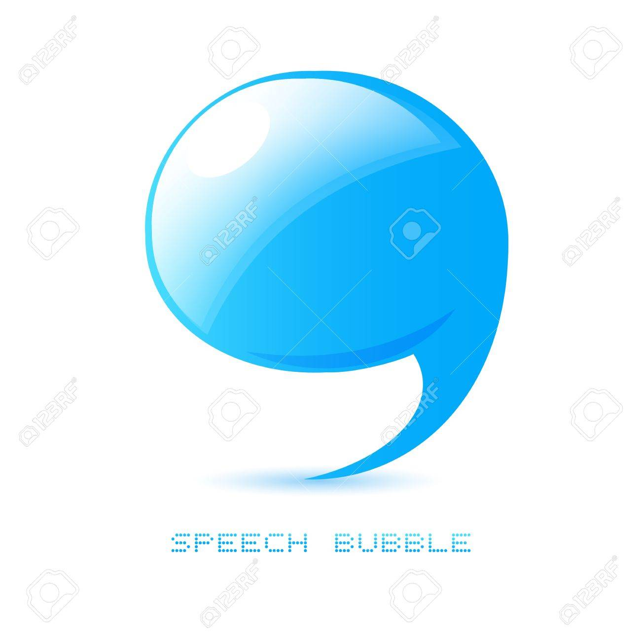 abstract talking bubble Stock Vector - 14792166