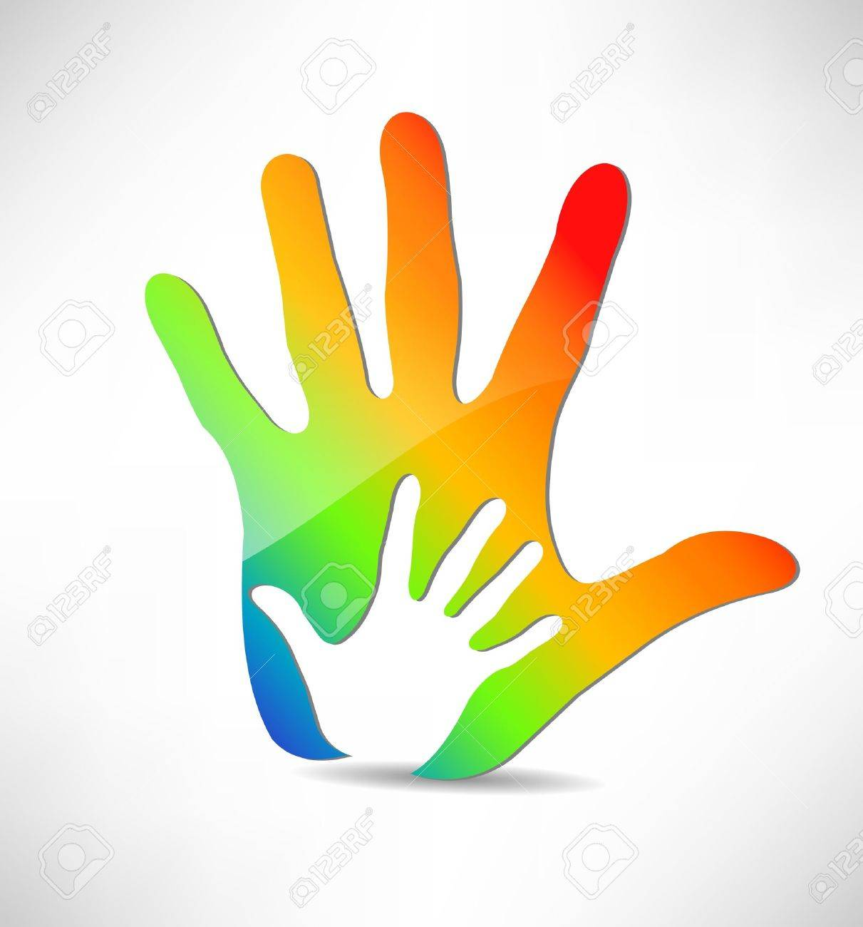 Hands silhouette Stock Vector - 15179151