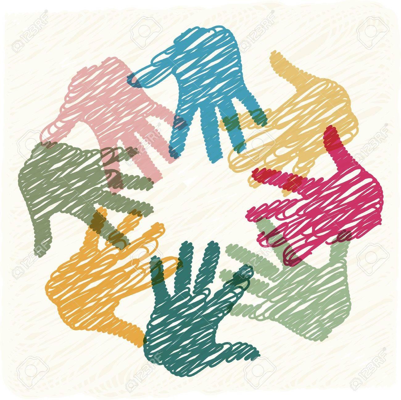 Teamwork hands - 15179152