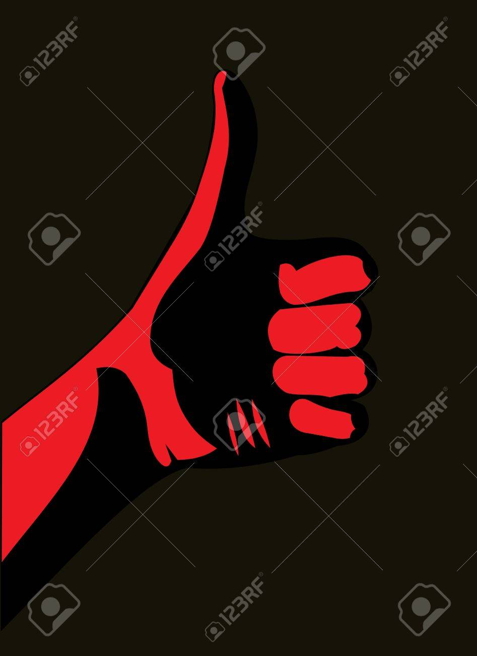 Thumb up. Red Stock Vector - 15179158
