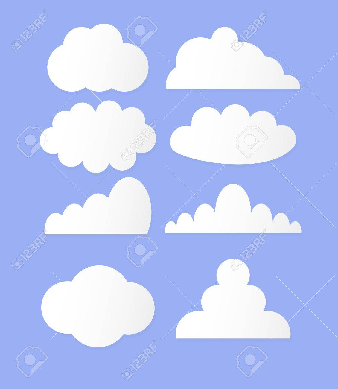 illustration of clouds collection Stock Vector - 15309328