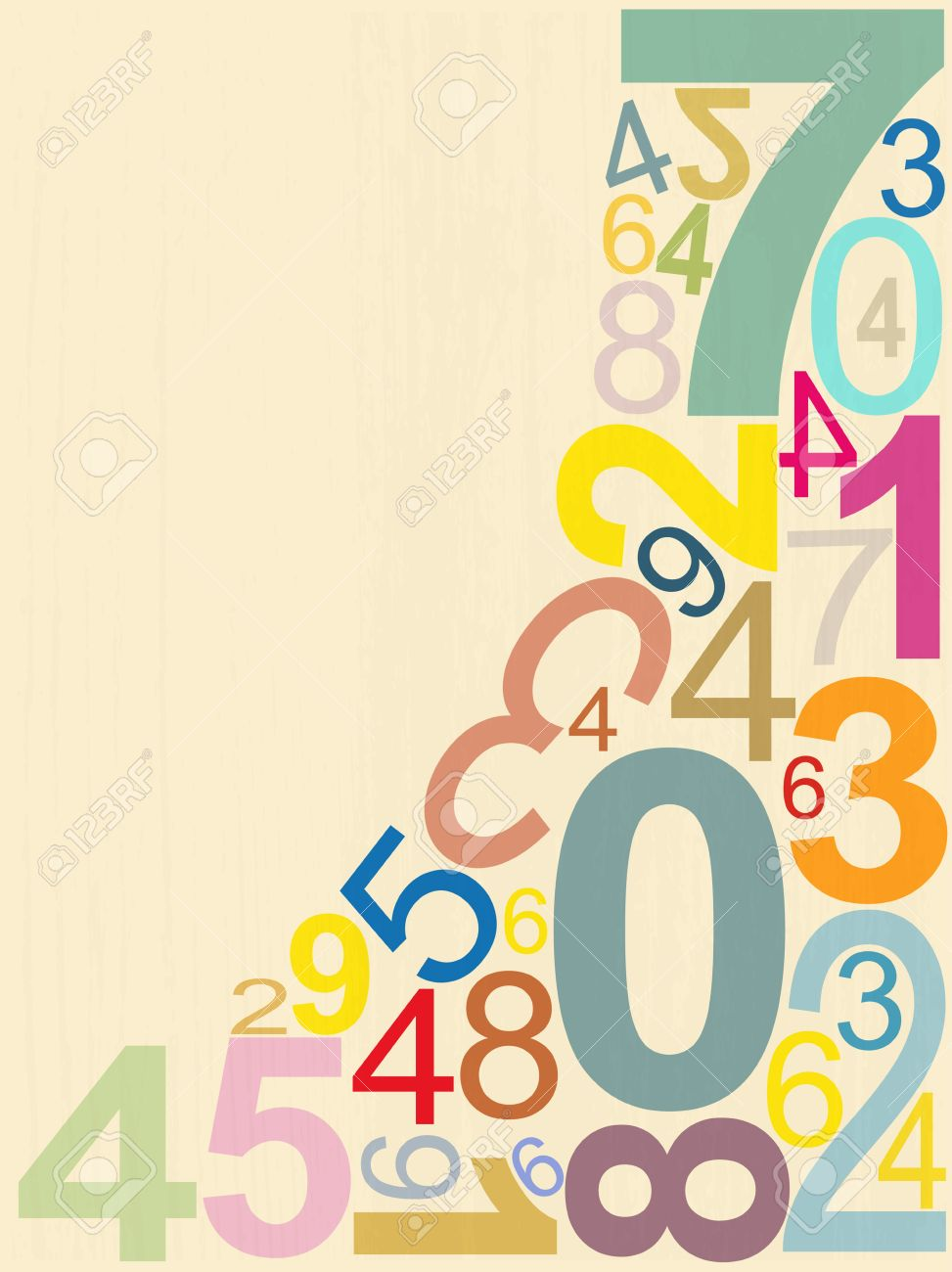 background numbers royalty free cliparts, vectors, and stock