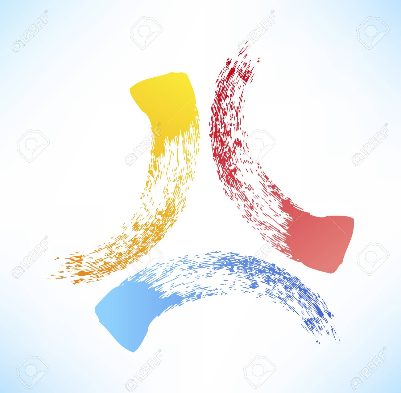 Brushstroke. Abstract symbol of the triad. Stock Vector - 15567806