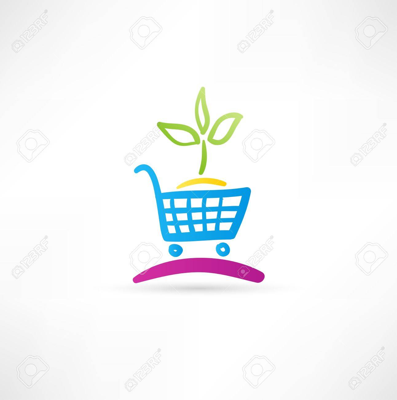 Symbol is ecological shopping Stock Vector - 15567733
