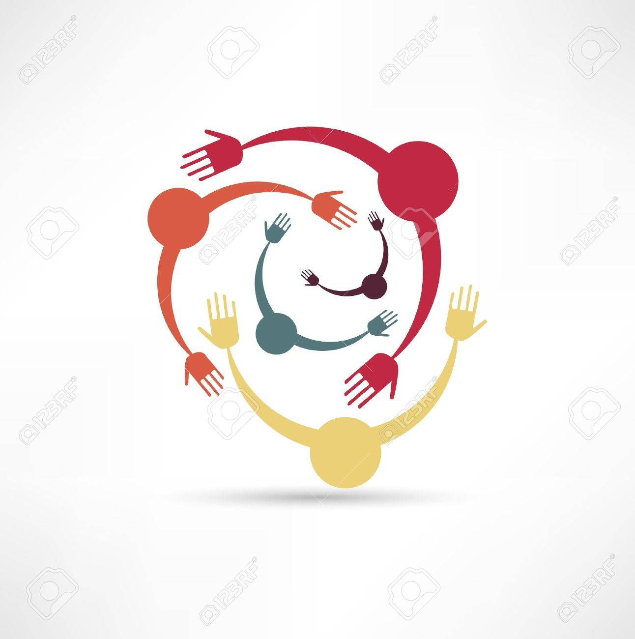 People Connected Symbol Stock Vector - 15567802