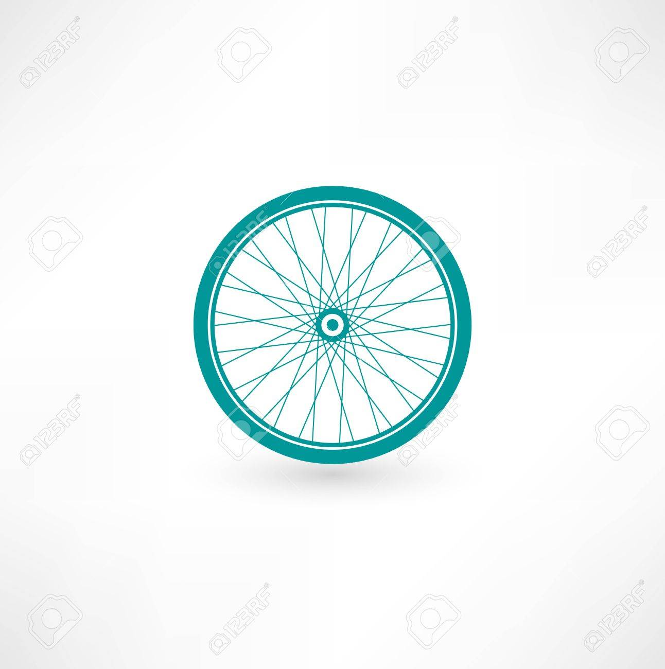Bicycle Wheel Symbol Stock Vector - 15879578