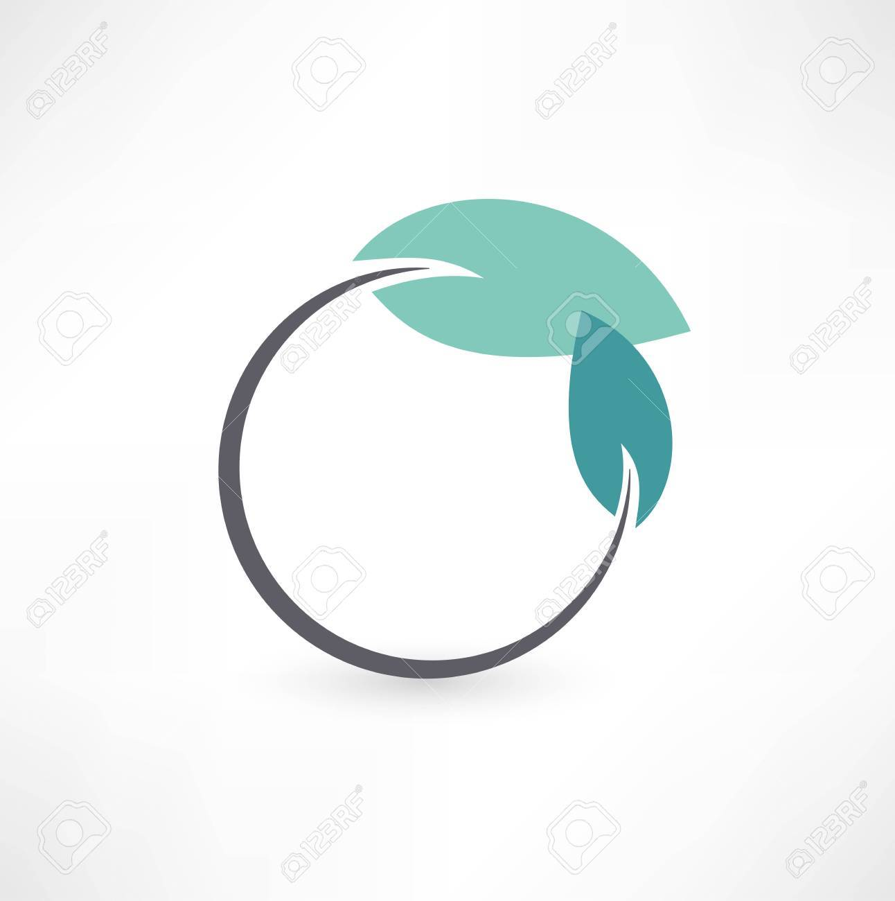 Eco symbols with leaf Stock Vector - 15879563