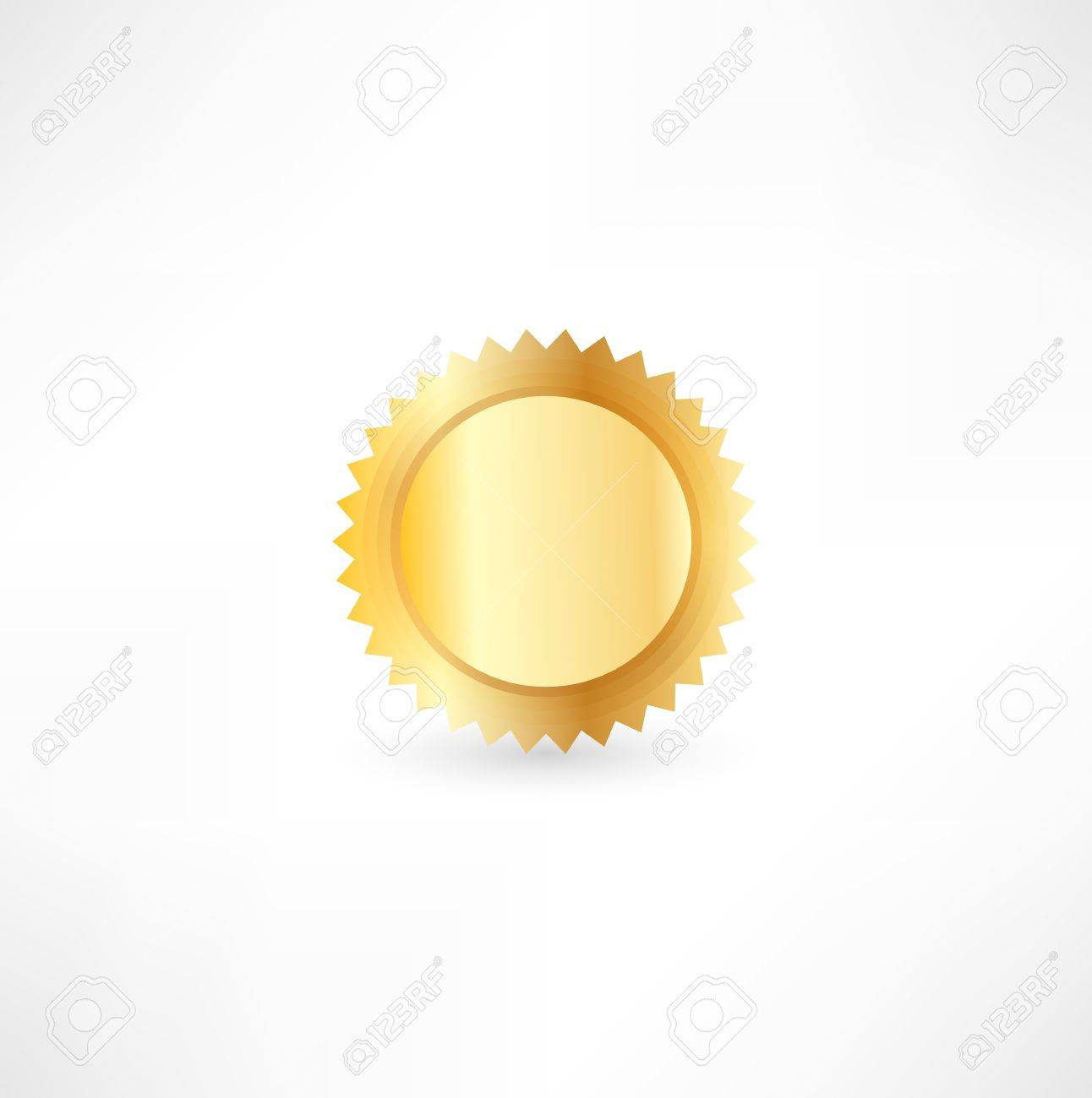 Gold Label Stock Vector - 16138383