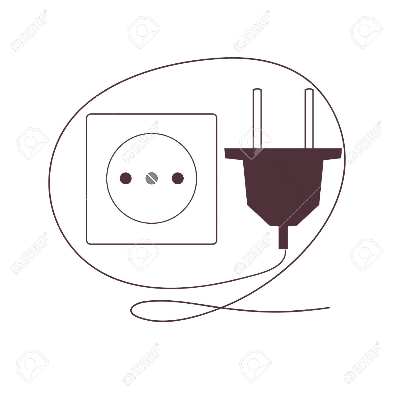 Plug and socket Stock Vector - 16282437