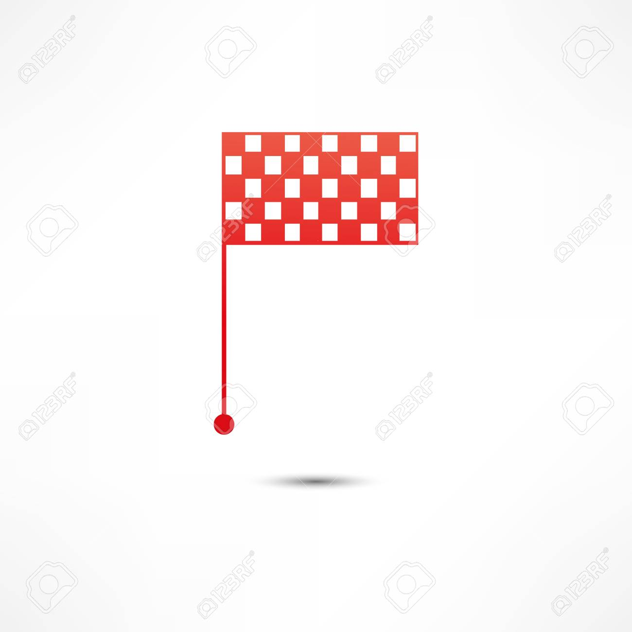 racing flags icon Stock Vector - 16669153