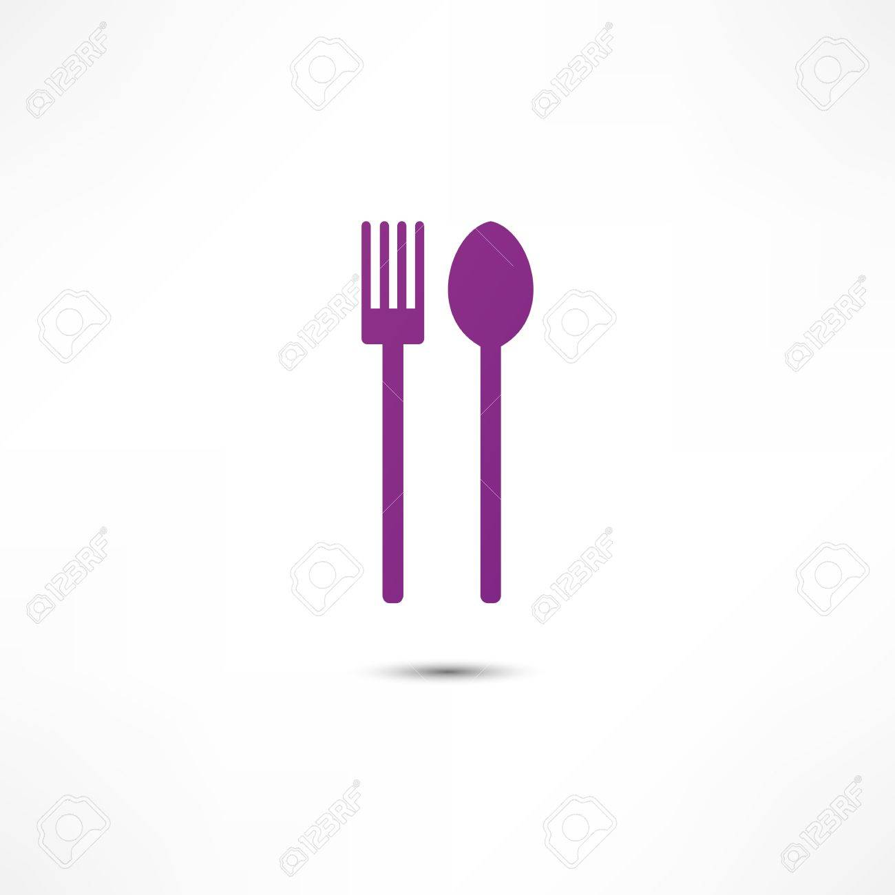 fork and spoon icon Stock Vector - 16795634