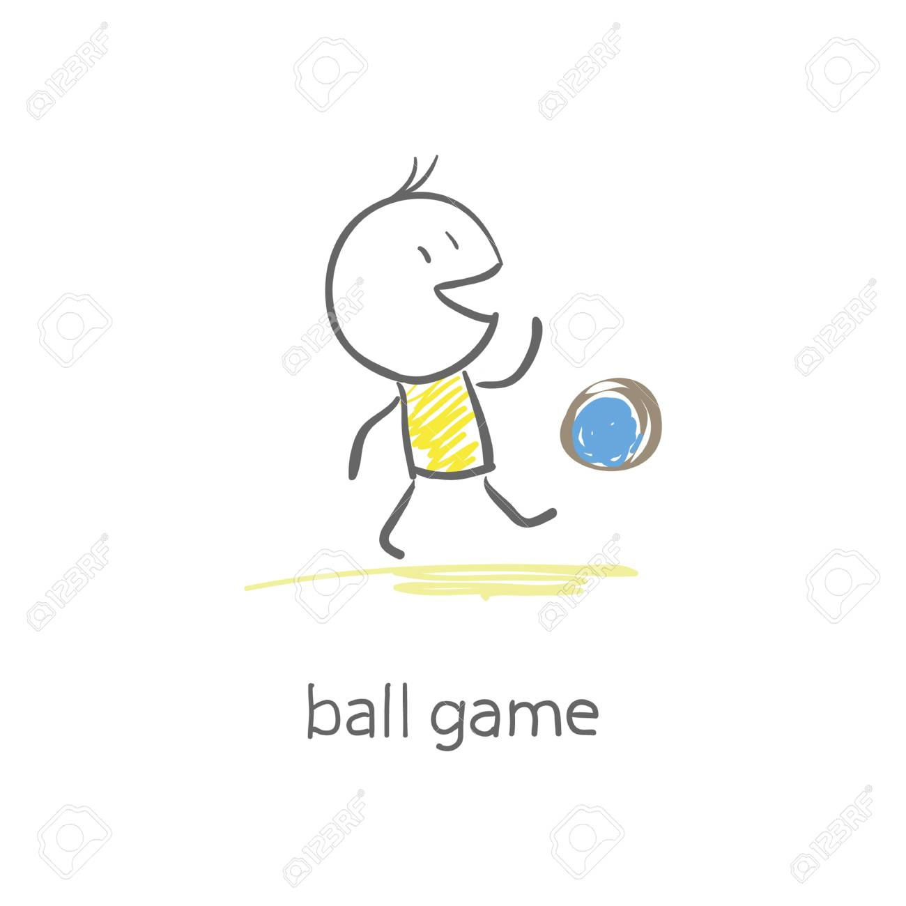 Man plays with the ball. Stock Photo - 16836121