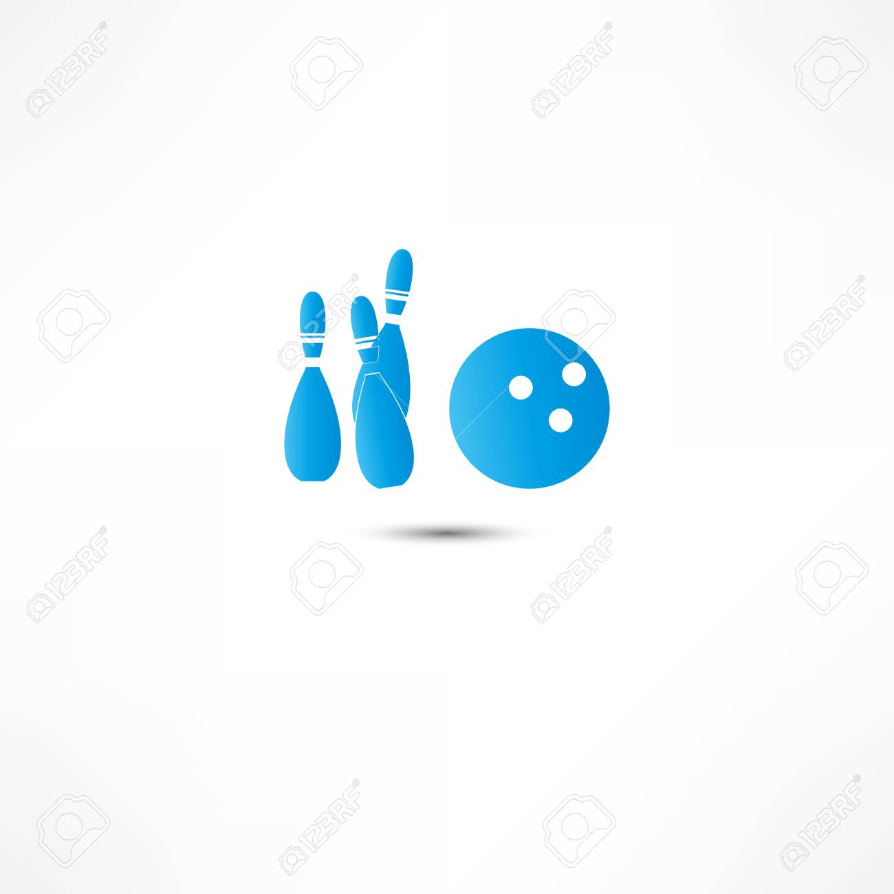 Bowling Icon Stock Photo - 16839023