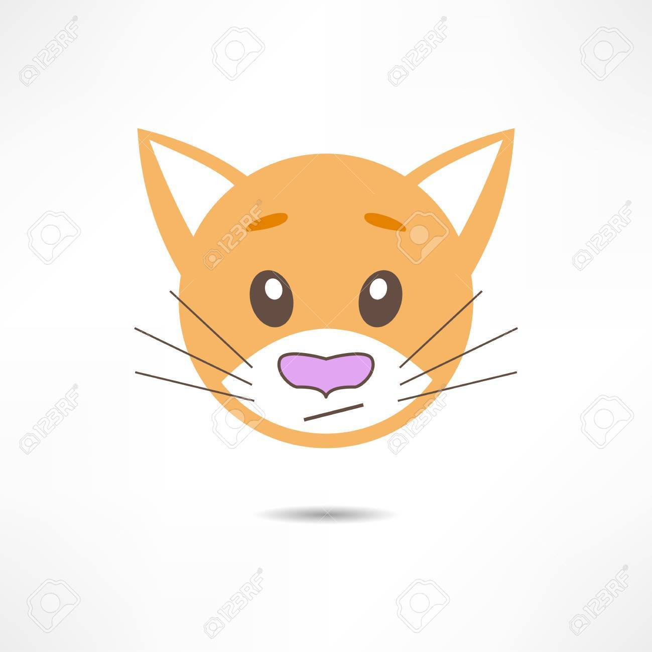 Thoughtful cat. Stock Vector - 17463679