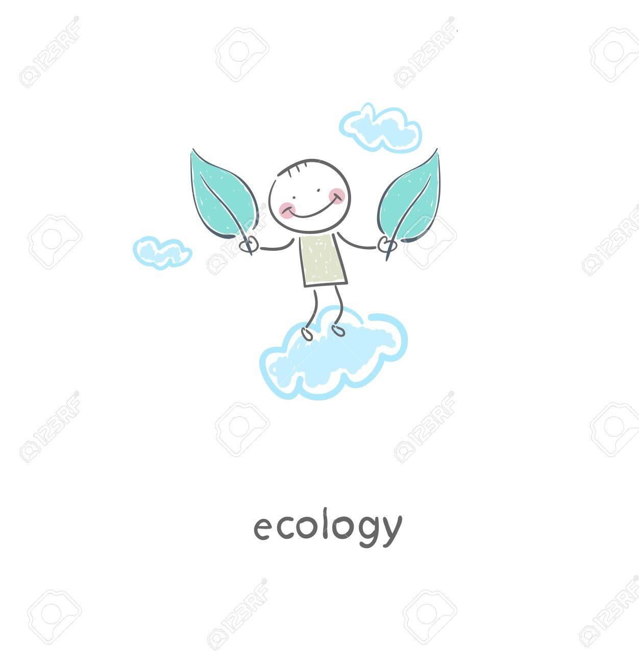 Eco people  Illustration Stock Vector - 17954801