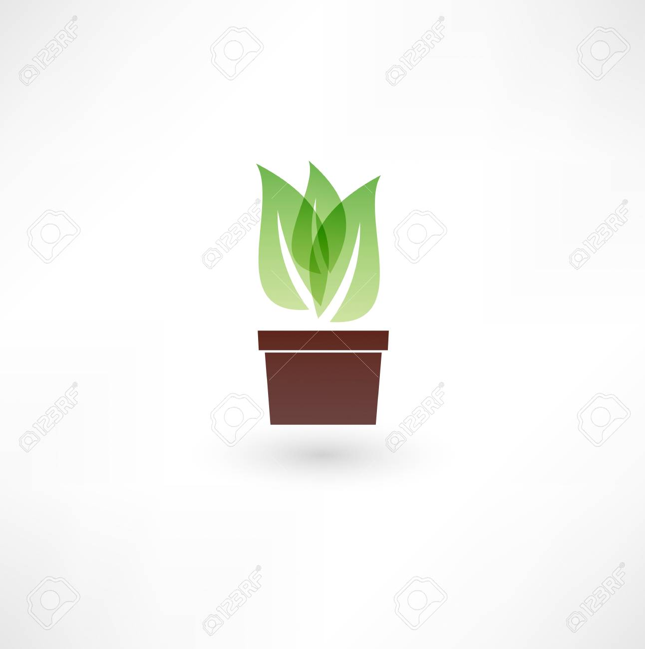 Flower in a pot icon Stock Vector - 18035541