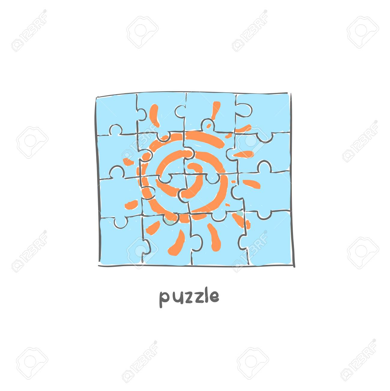 Puzzle. Illustration. Stock Vector - 18035558