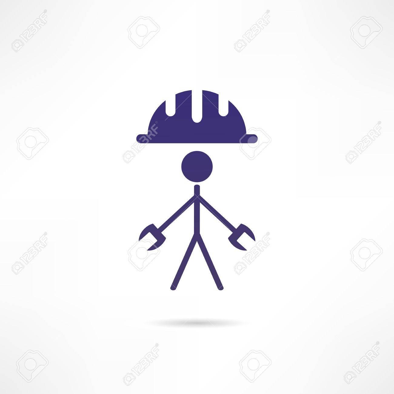Engineer icon Stock Vector - 18244894