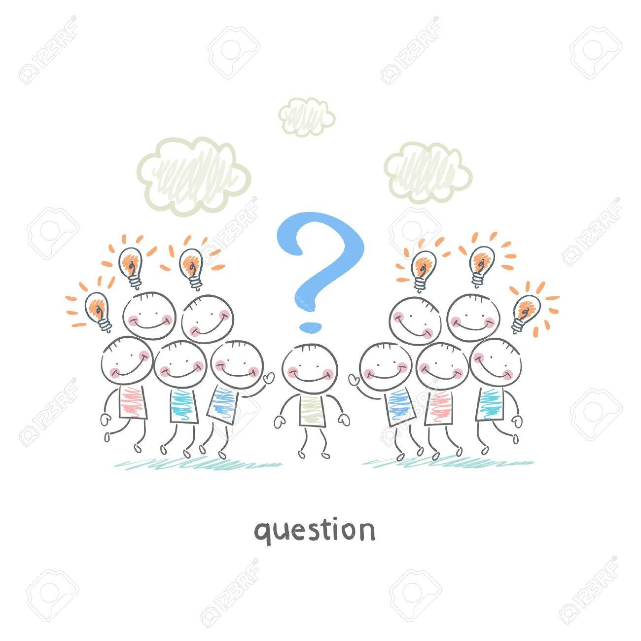 Questions Stock Vector - 18558021
