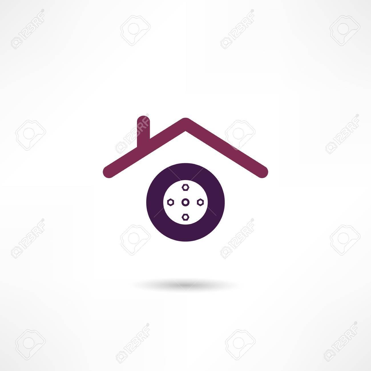 repair shop icon Stock Vector - 18694144
