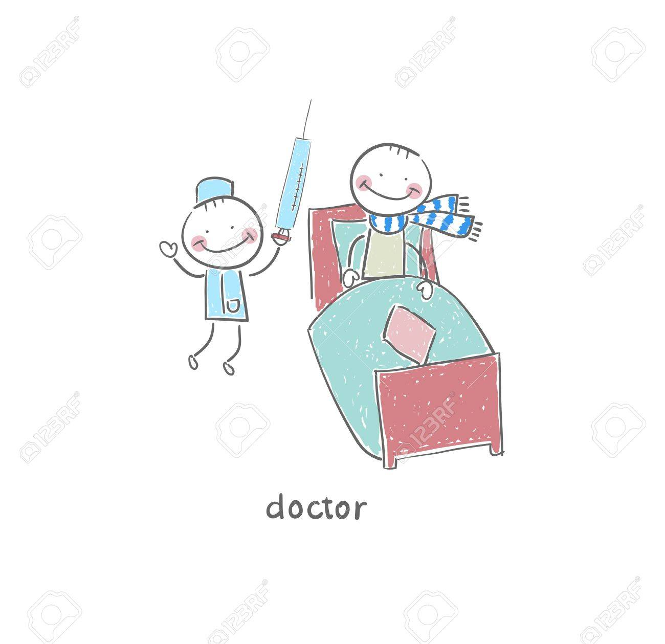 Doctor and patient. Illustration. Stock Illustration - 18716891