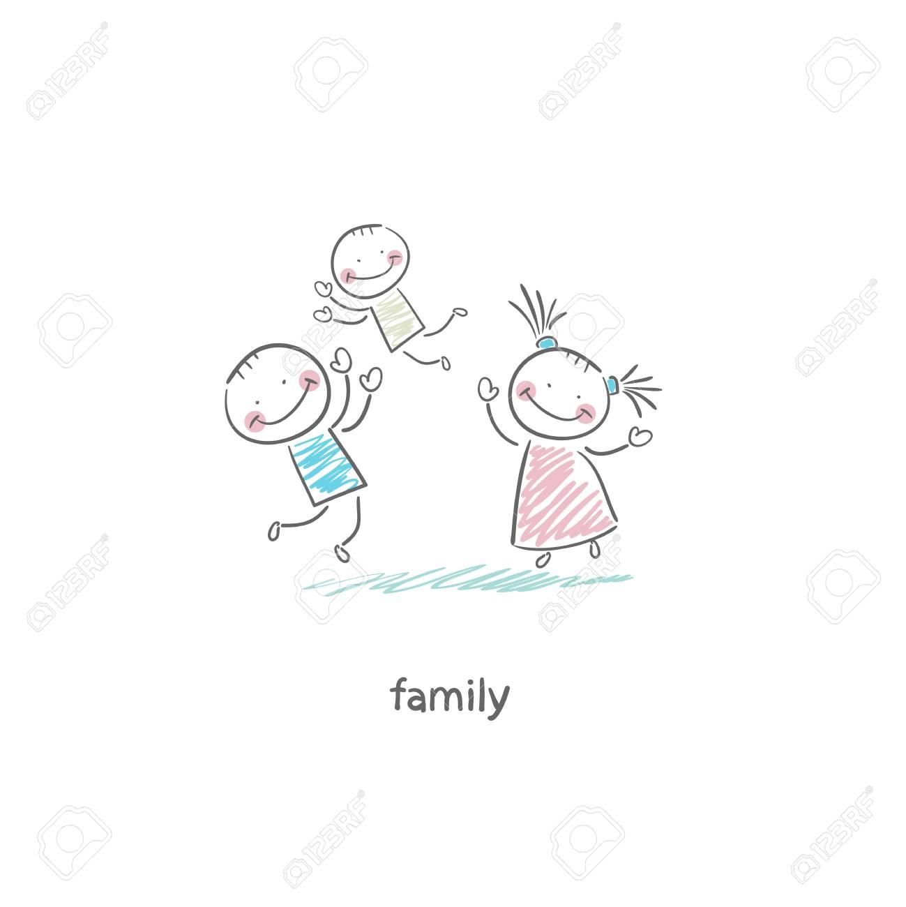幸せな家族イラスト の写真素材画像素材 Image 18716793