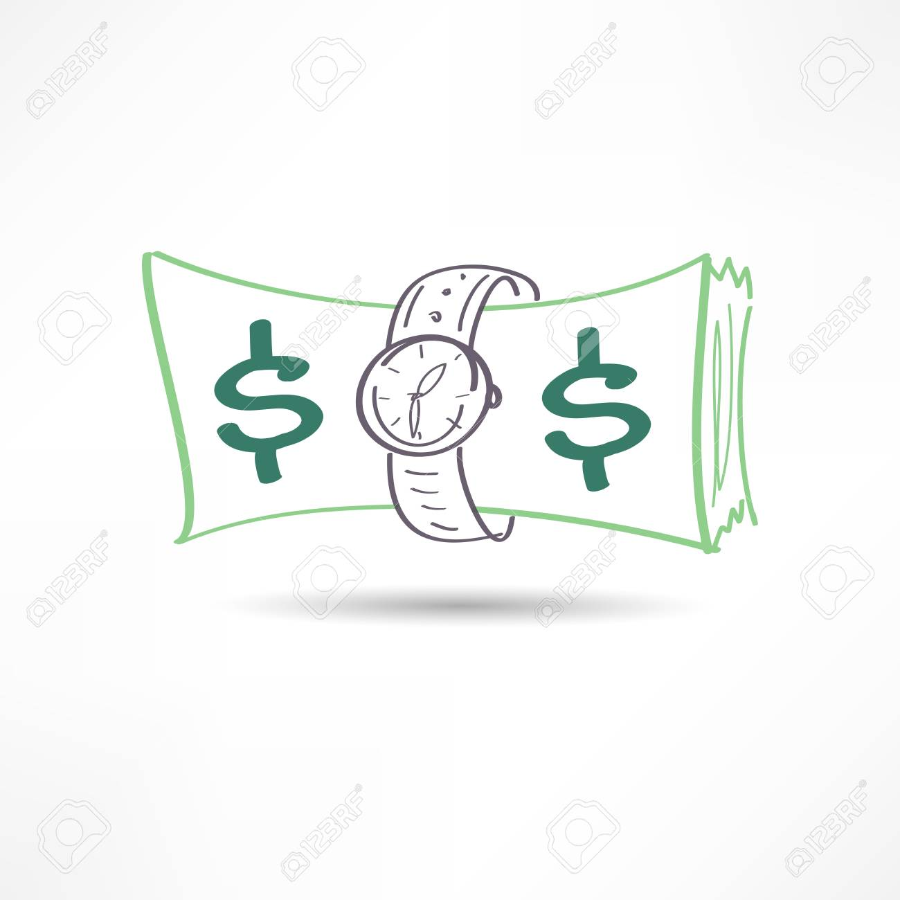 time is money icon Stock Vector - 21449670