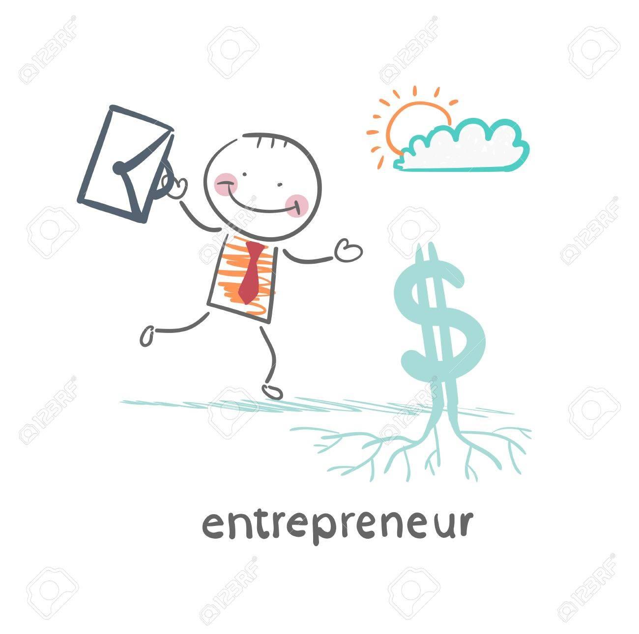 entrepreneur raises Dollar - 21983001