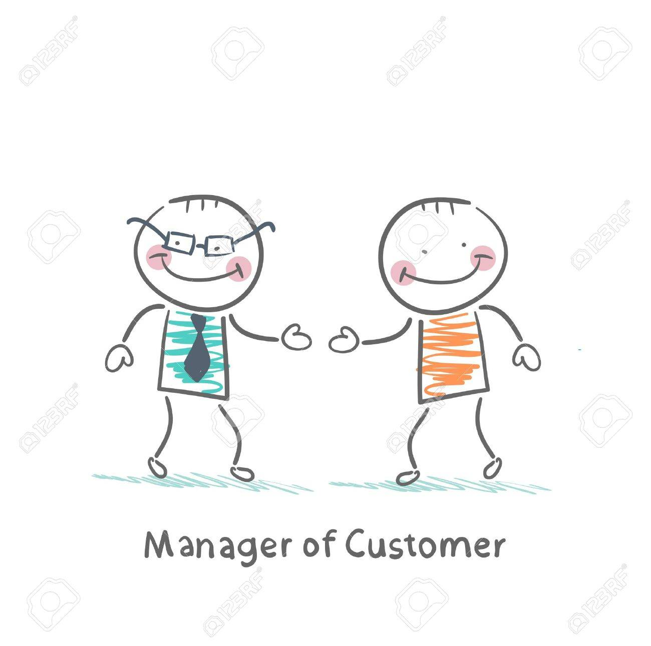 Manager Customer greets with the client Standard-Bild - 21983413