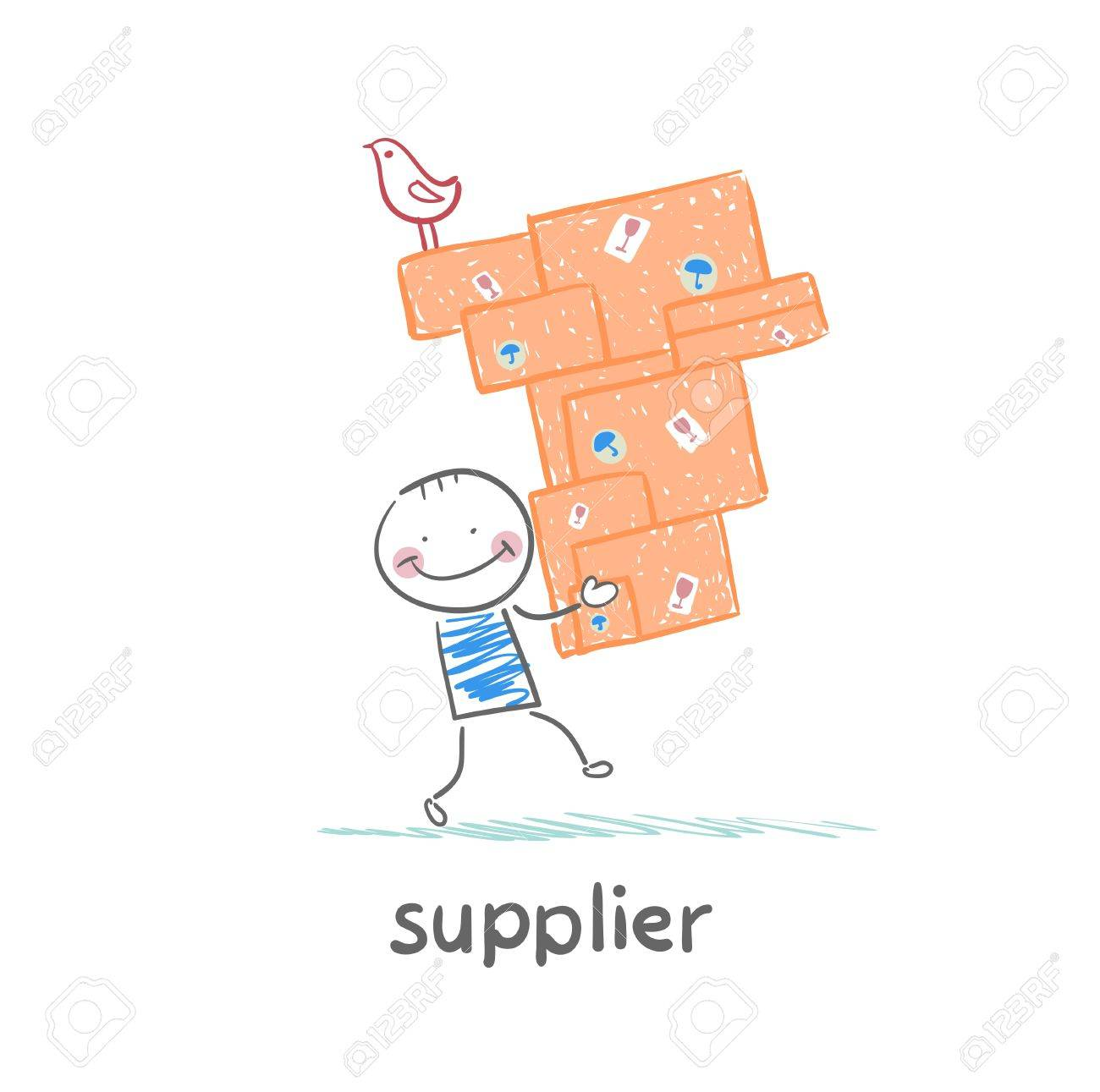 supplier carries goods Standard-Bild - 21984392