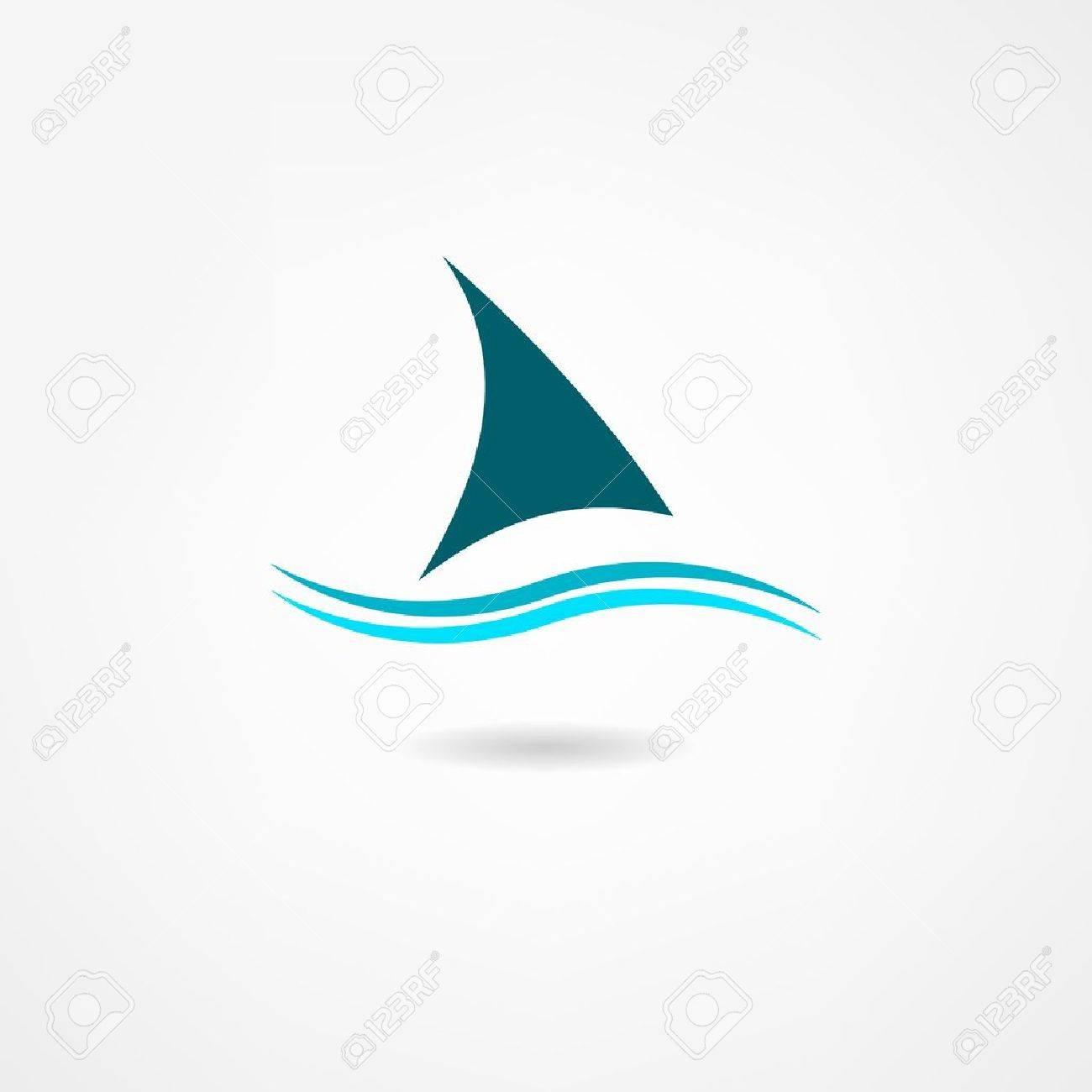 sail icon Standard-Bild - 21984540