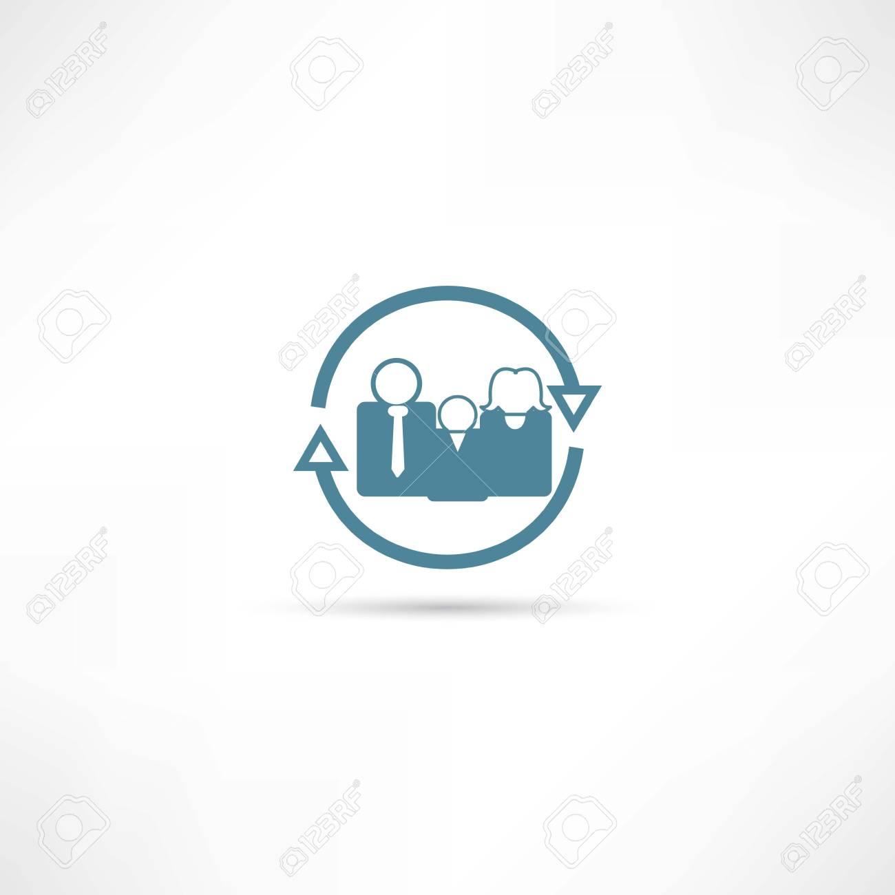family icon Stock Vector - 22073116