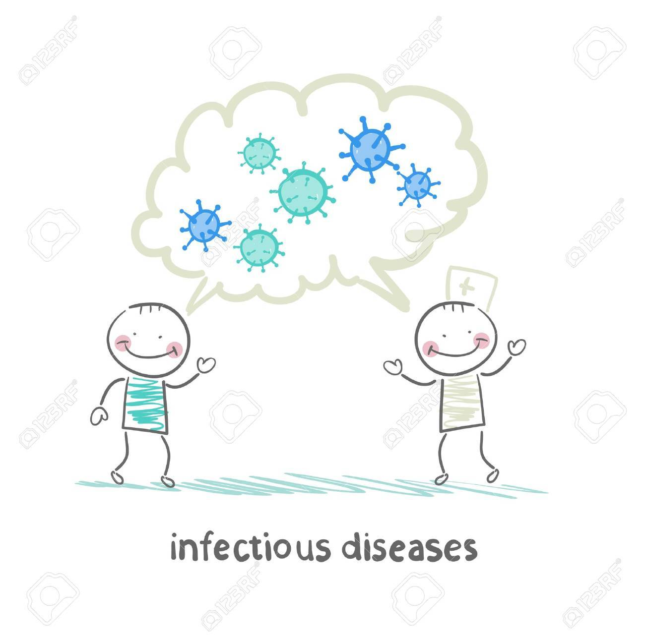 infectious diseases specialist says with a patient about infection Stock Vector - 22138655