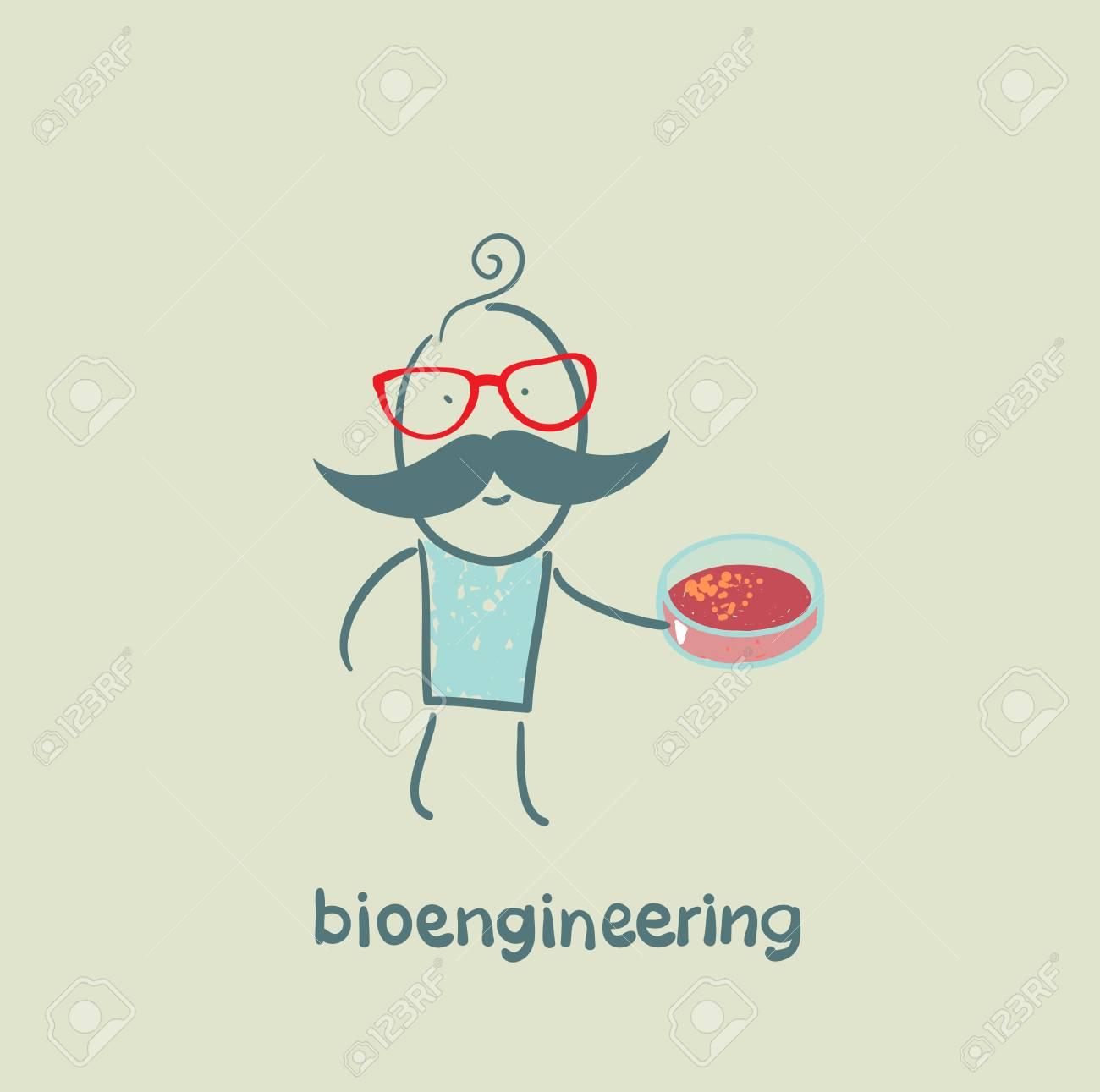 bioengineer holding a test tube Stock Vector - 23065588