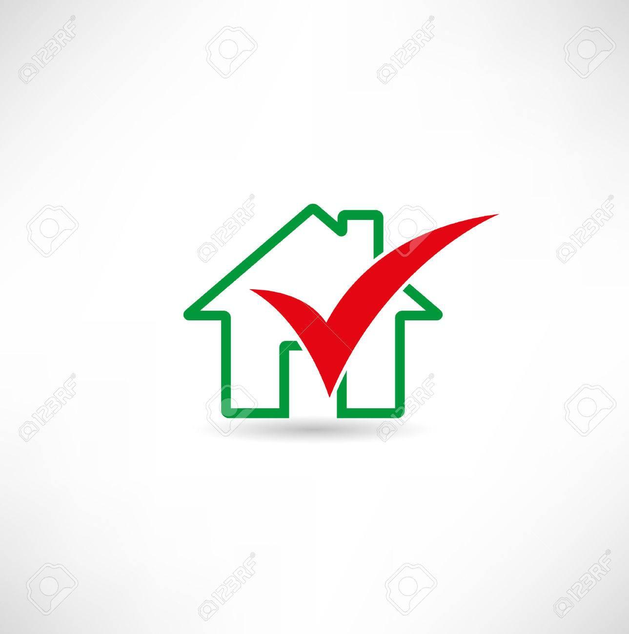 Home and checkbox Standard-Bild - 23060205