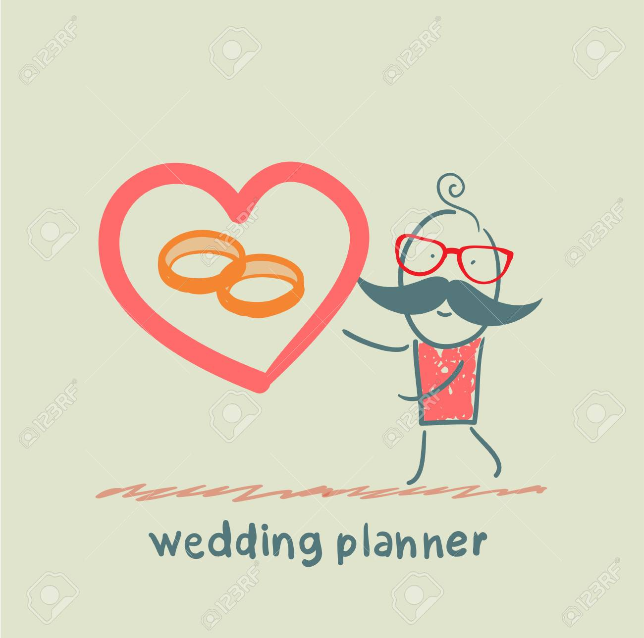 wedding planner ring shows Stock Vector - 23703223