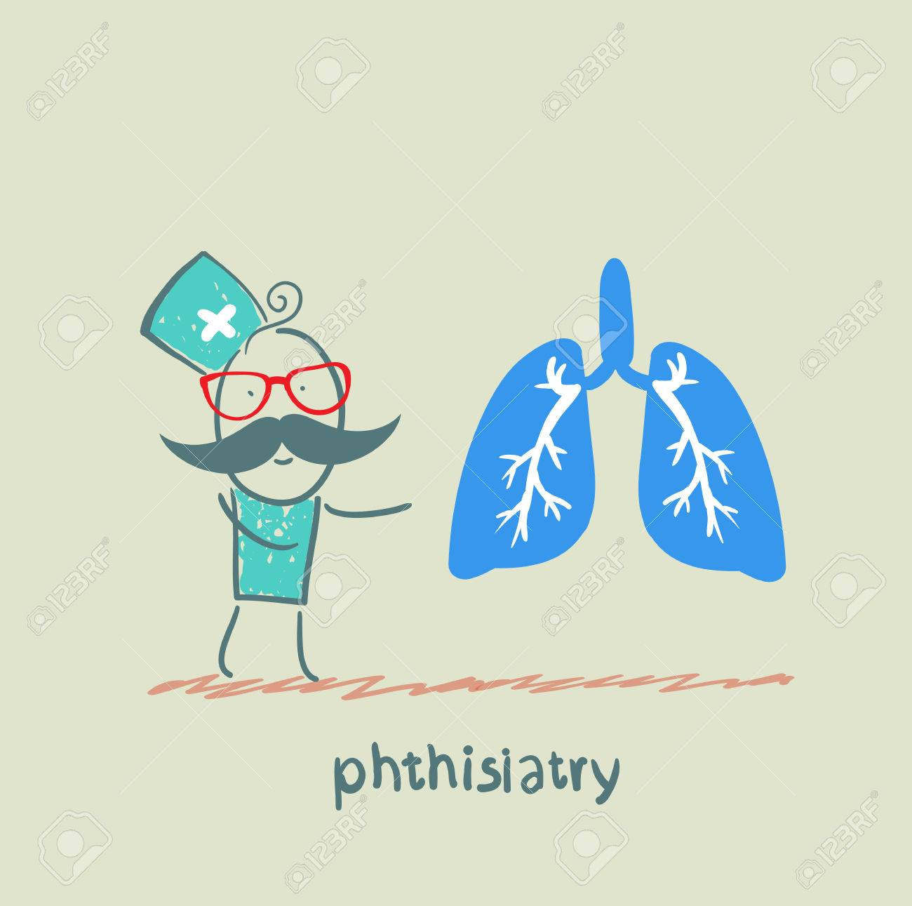phthisiatry says the human lung Stock Vector - 23761632
