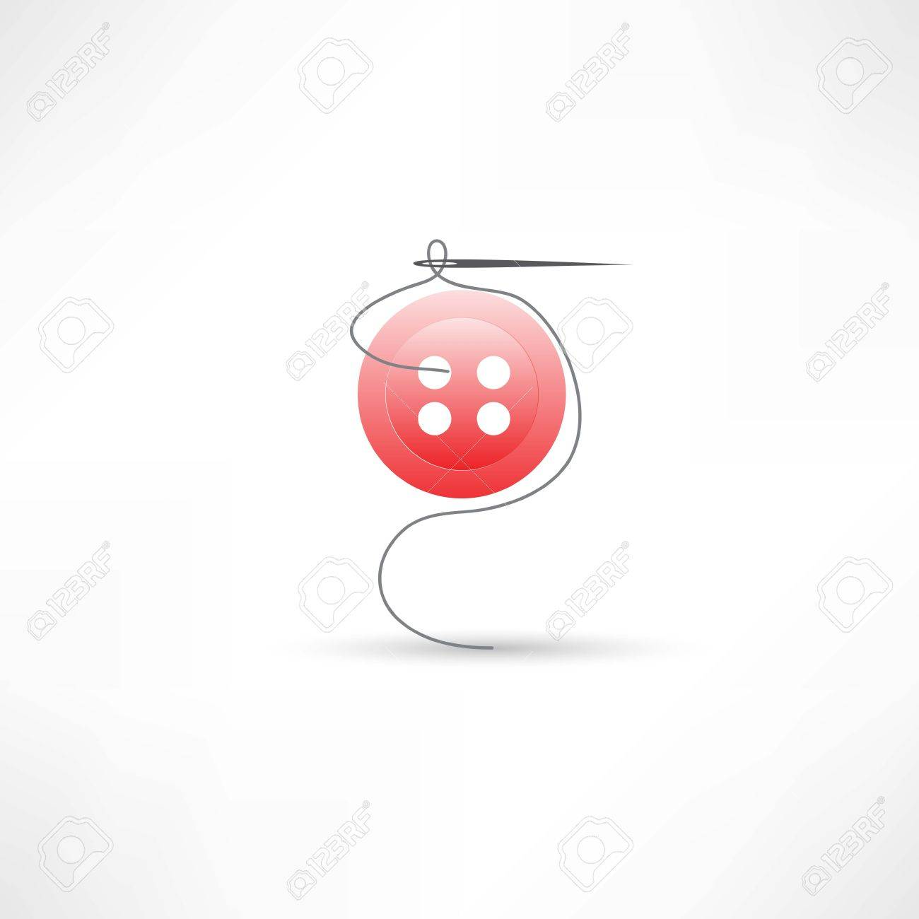 sewing needle icon Stock Vector - 24584146