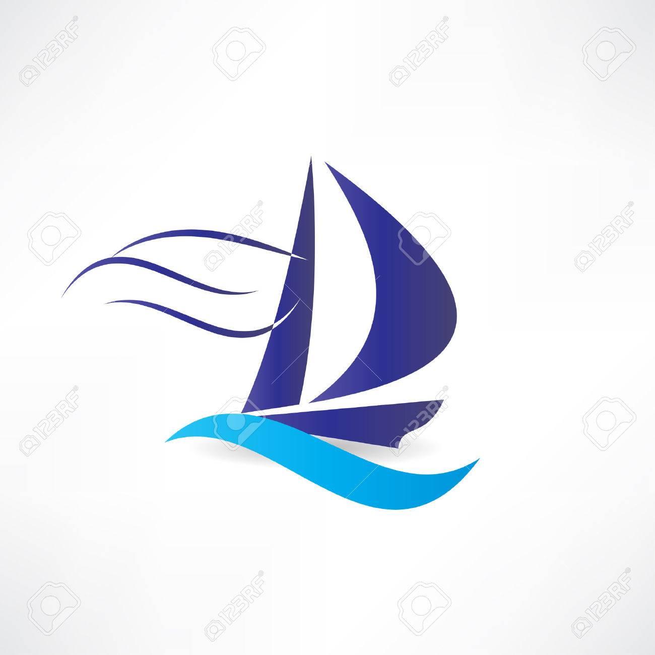 sailboat at sea icon Standard-Bild - 24584272