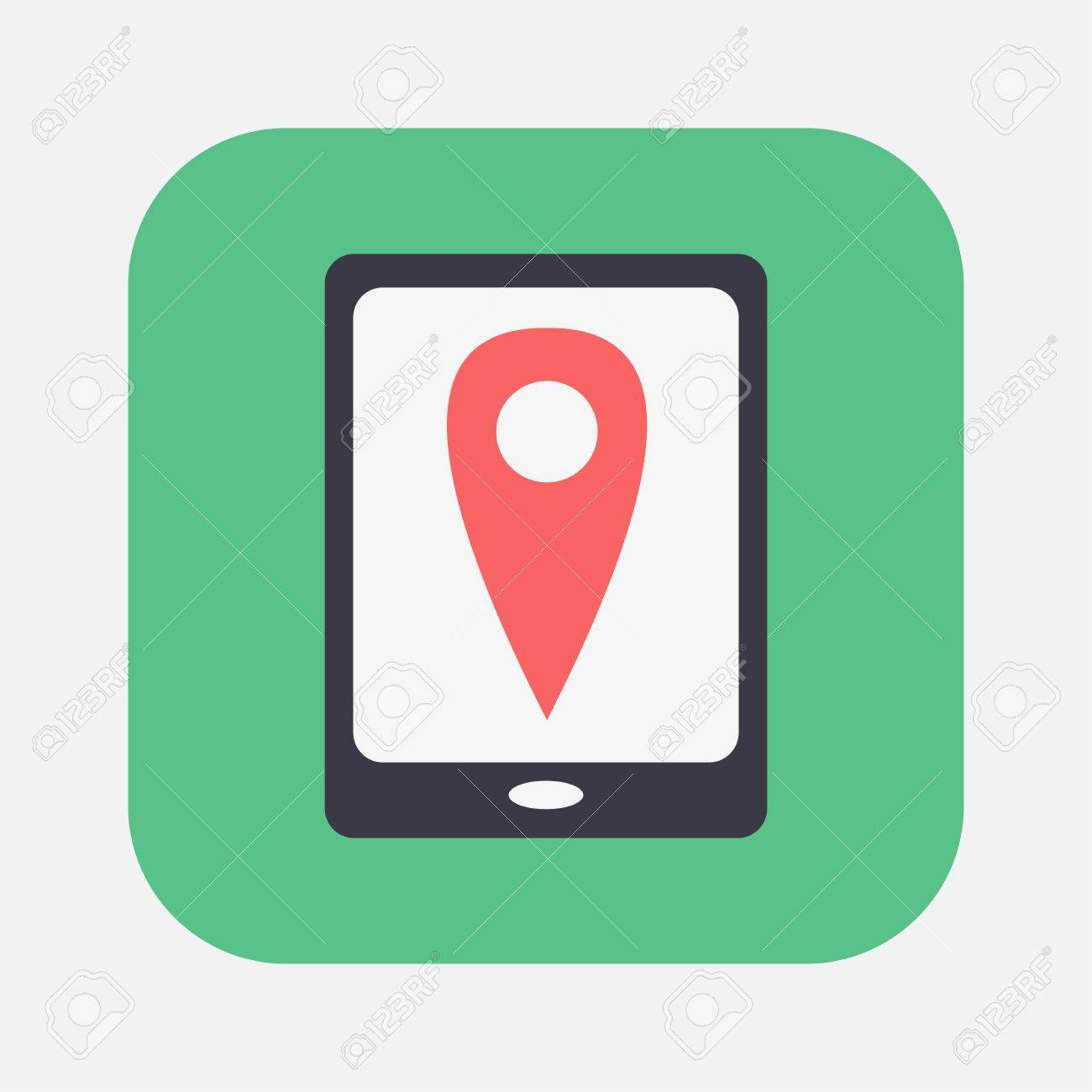 gps icon Stock Vector - 26179829