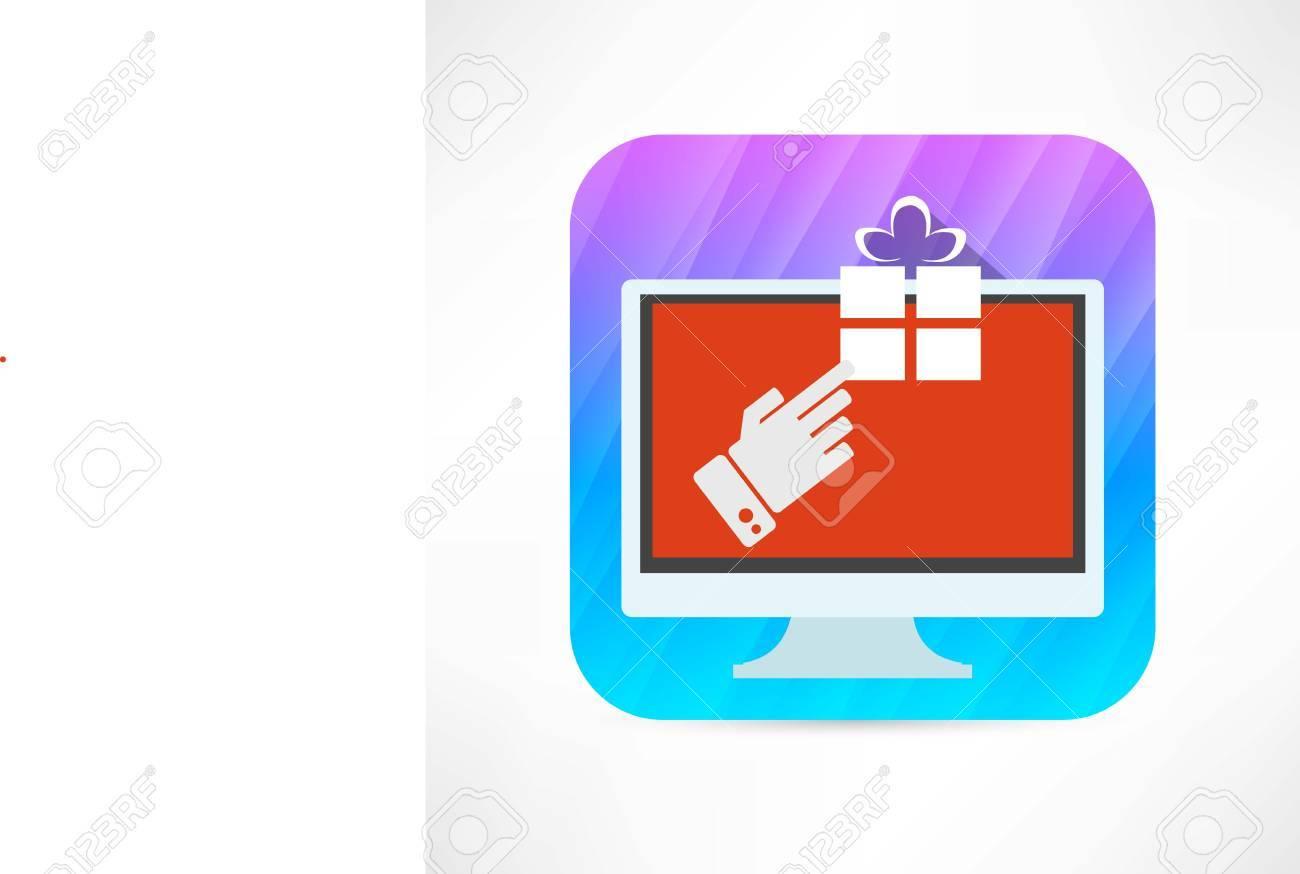 pc gift icon Stock Vector - 27533909