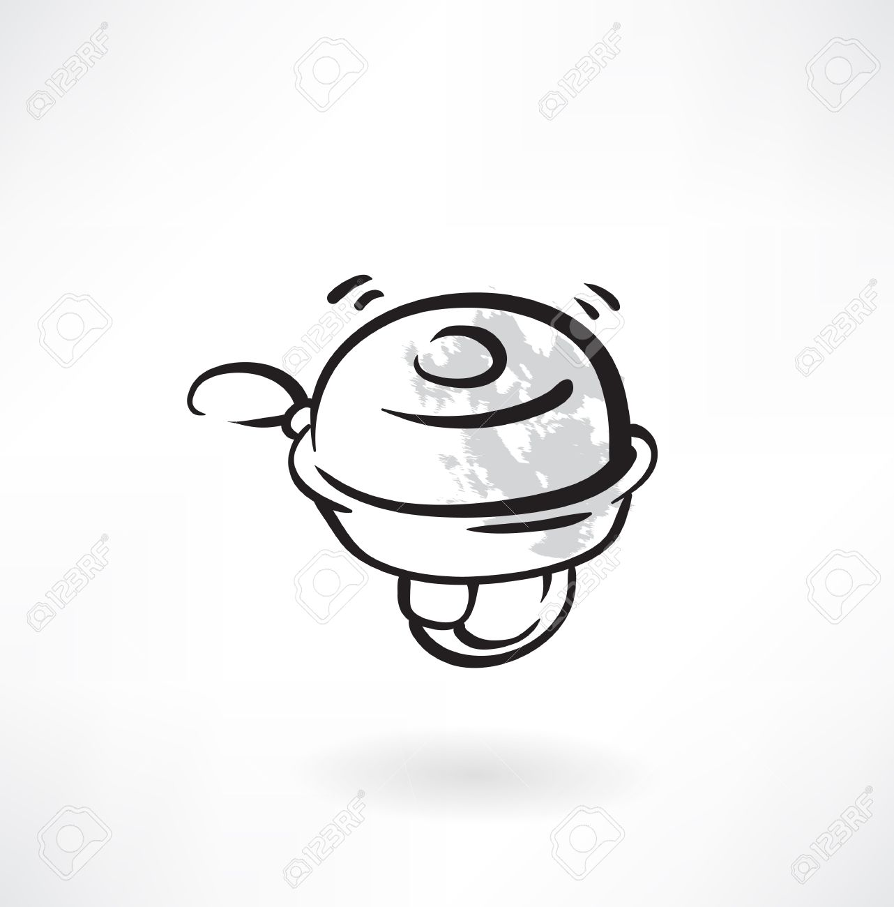bicycle bell grunge icon - 32210015