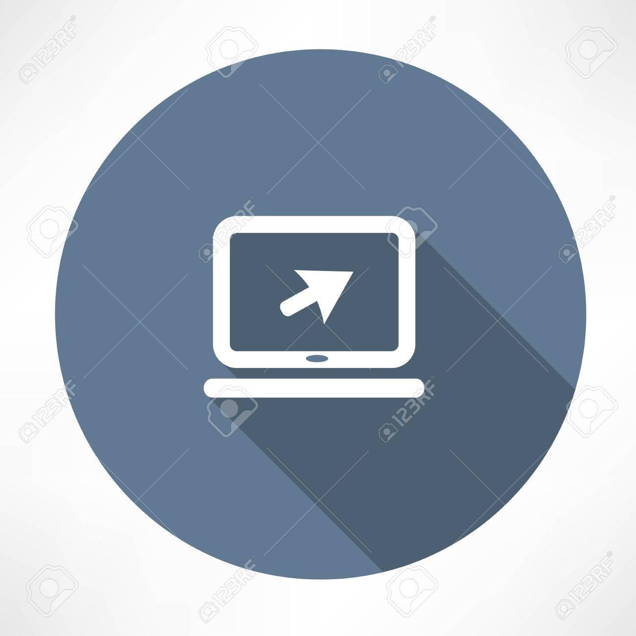 Laptop sign icon - 32249683