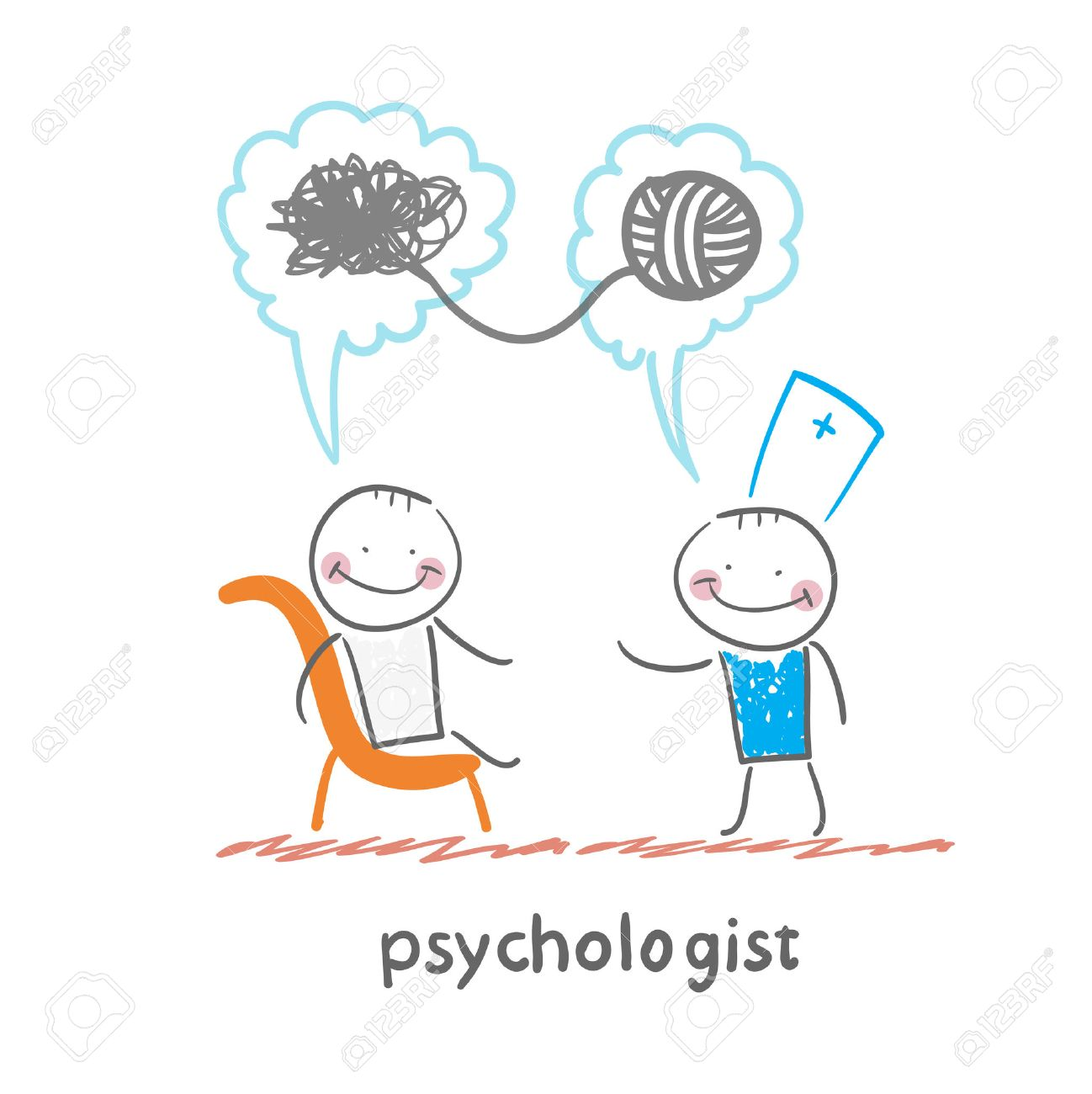 psychologist says to the patient, and solves problems Standard-Bild - 32482140