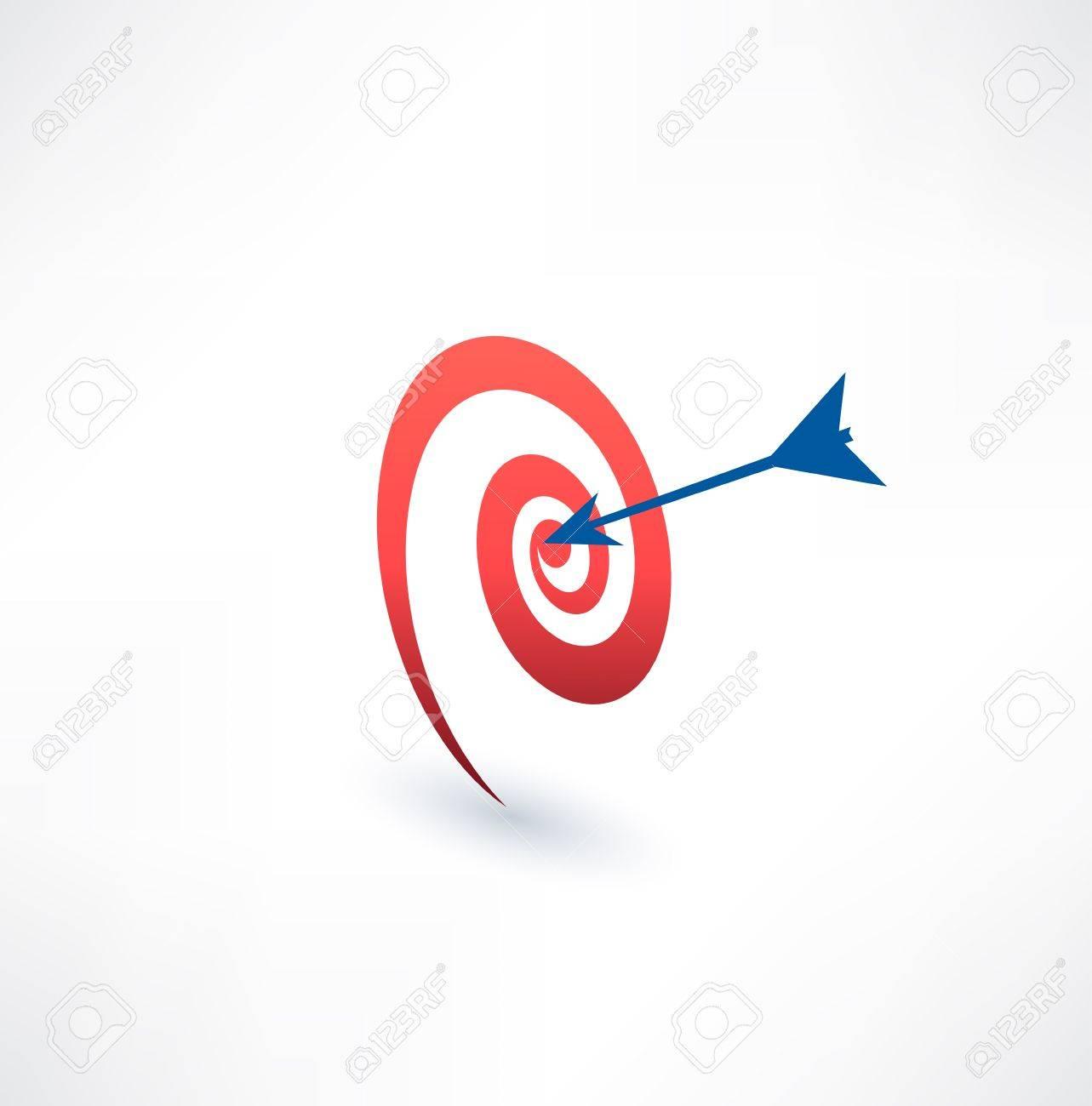 Target and arrow icon. The concept of purpose. Logo design. Standard-Bild - 33673038