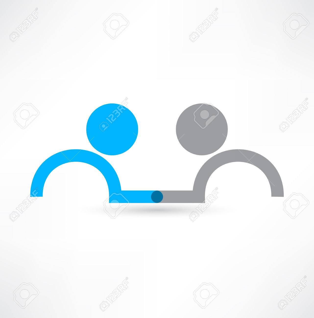 Handshake icon. Logo design. - 33673509