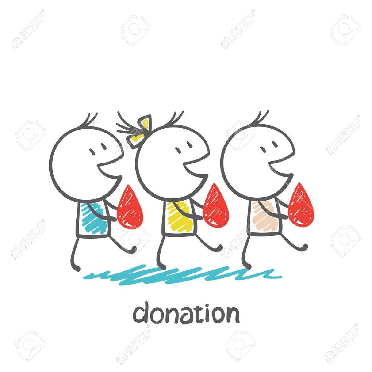 go to donate blood donors illustration - 36067762