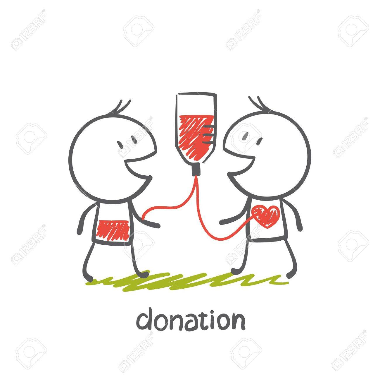 persons engaged in the donation illustration - 36067801