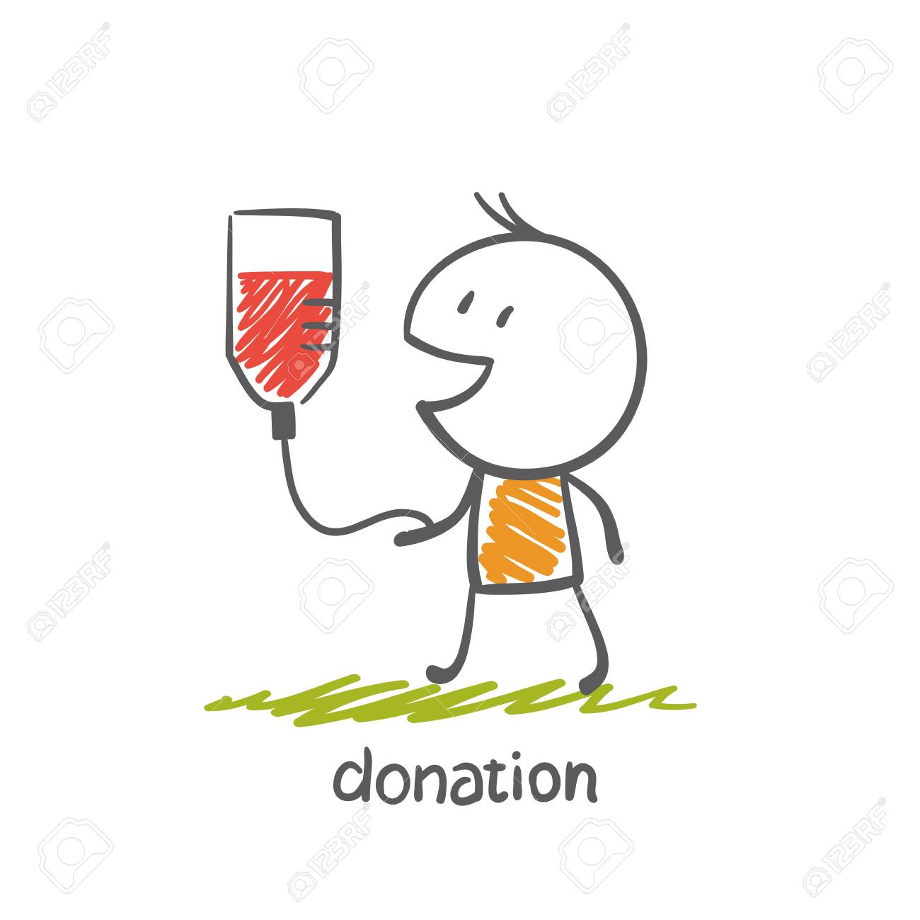 persons engaged in the donation illustration - 36067802
